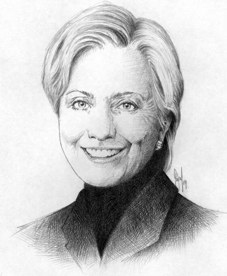 Hillary Clinton par Pastis